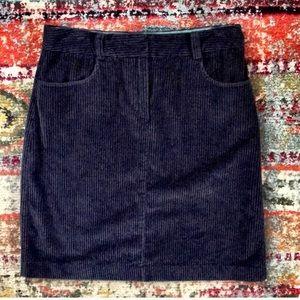 BODEN corduroy skirt in navy
